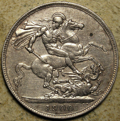 Great Britain: 1900-LXIV Queen Victoria Old-Head Silver Crown