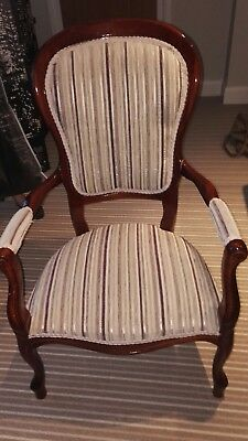 Queen Ann Style Mahogany Chair- Pre-Owned