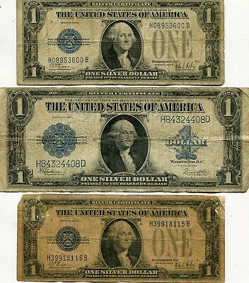 Docs 3-Piece USA Currency Lot: Includes 2 $1.00 Funny Backs+Large Size 1923 Note