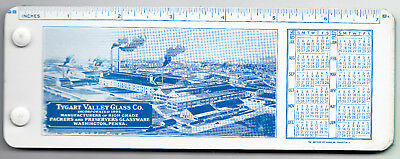 Celluloid Ink Blotter Cover w/blotters - Tygart Valley Glass Co - Washington PA