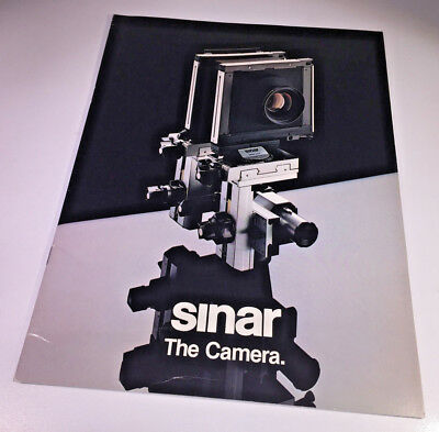 An A4 sales brochure for the Sinar P, C & F pro camera systems from 1980
