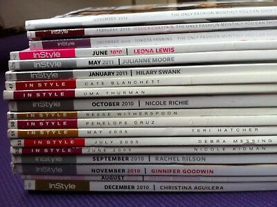 JOB LOT OF 18 x INSTYLE Women's MAGAZINES in style fashion celebrity