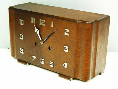 Later Art Deco Design Chiming Mantel Clock From Junghans