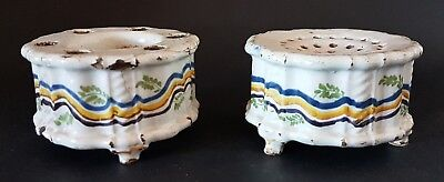 Antique Islamic Faience Pottery Inkwell and Sander
