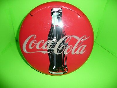 "box17   Vintage 1995 Coca Cola 12"" Round Lighted PHone"