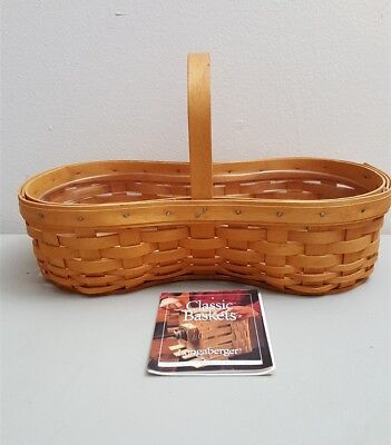 Longaberger 2001 Classic Medium Barbeque BBQ Buddy Basket 10801 With Protector