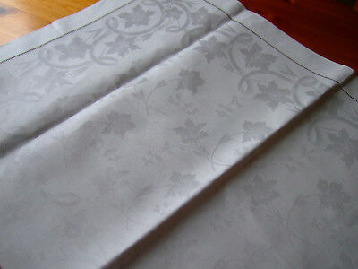 TWO Antique Linen Damask Butlers Traycloths plus Runner.VGC