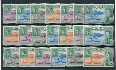[83926] Antigua 1962 5x good sets Very Fine MNH stamps