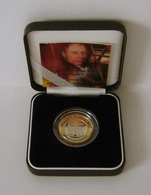 A Royal Mint United Kingdom 2004 Silver Proof Piedfort Steam Locomotive £2 Coin