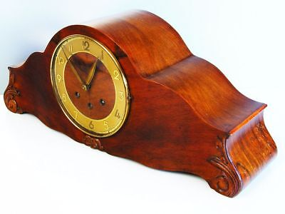 Pure Art Deco Westminster Chiming Mantel Clock From Kienzle Germany