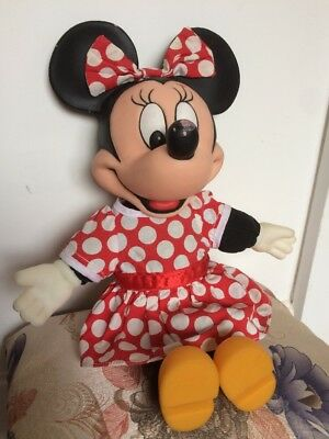 """Disney Minnie Mouse Soft/Plastic Toy Doll Vintage 70s? 14"""" (not Mickey)"""