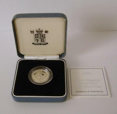A Royal Mint United Kingdom 2001 Silver Proof £1 Coin