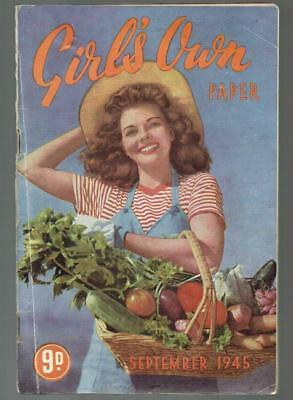 Vintage Girls Own Paper - September 1945 - fashion,beauty,stories etc - see pics