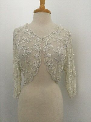 New Bhldn Moyna Couture Beaded Embellished Capelet Shrug Wedding Bridal Topper