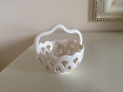 Royal  Creamware Occassions  Small Basket   Signed