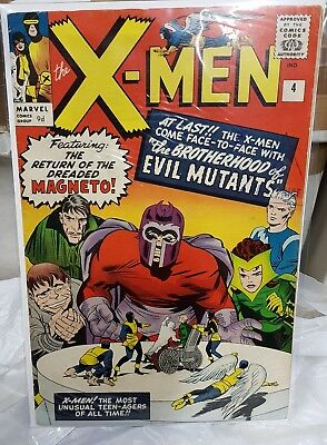 Uncanny X-Men #4 Marvel 1964 1st Appearance of Quicksilver and Scarlet Witch