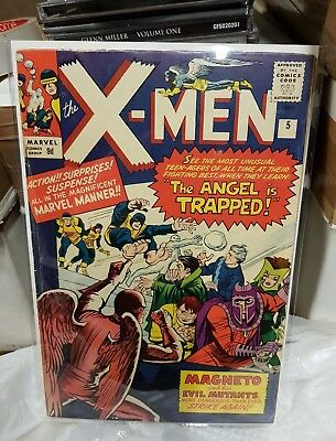 X-MEN #5  Marvel Comics 1964 3rd Magneto  2nd Scarlet Witch /Quicksilver
