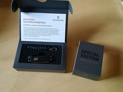 Victorinox Classic SD Alox Special Midnight Black 2017 limited edition NEU OVP
