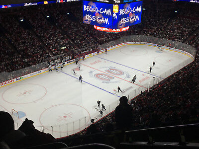 Montreal Canadiens vs New Jersey Devils 2 tickets 324 A grey section 04/01/18