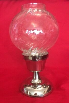 Antique Style Silver Plated Candle Lamp