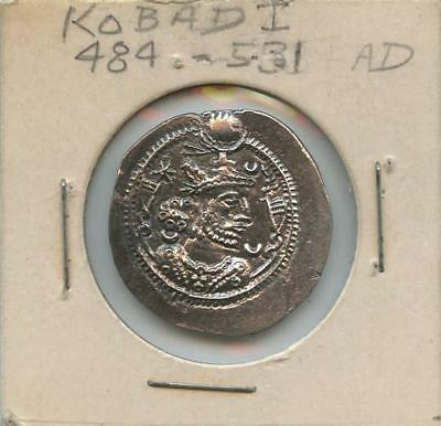 484-531 A.d. Silver Kobad I Ancient Coin - High Grade, Quality Strike