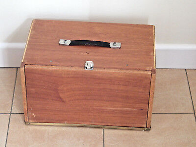 Old Wooden Clockmakers Box Cabinet Chest Engineers Tool Box