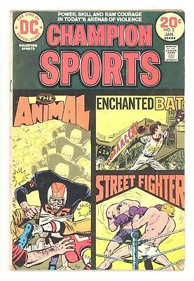 CHAMPION SPORTS #2  DC 1974 - Baseball, Football & Boxing - VG+