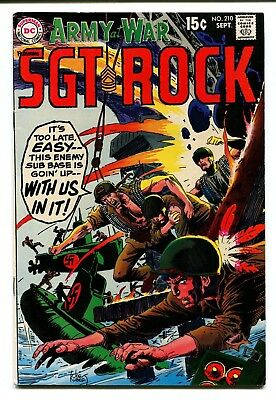 Our Army at War #210 DC Comics 1969 FN/VF 7.0