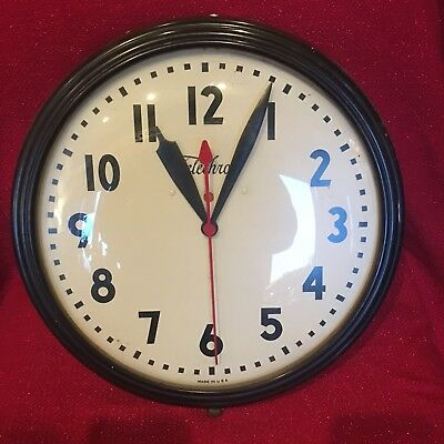 Large Vintage Telechron GE Electric Wall Clock Working