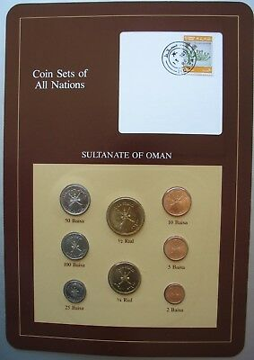 Franklin Mint Coins Of All Nations Sultanate Of Oman 8 Coin Set Unc.