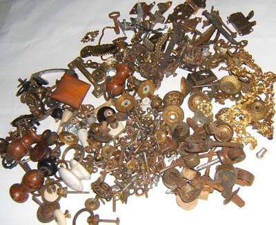 Vintage Box Lot Hardware Drawer Pulls-Nuts & Bolts-Latches