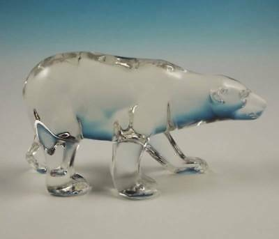 RARE Indiana Glass Crystal Polar Bear Figurine Animal Known in Amber Only NR