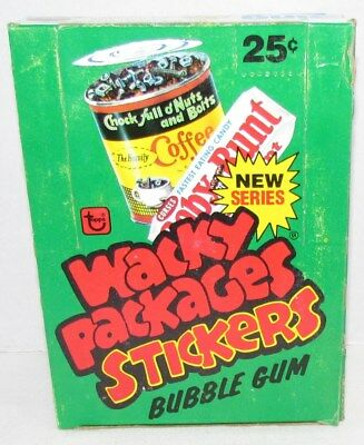 Topps Wacky Packages 4th Series Rerun 1980, full wax box 36 packs