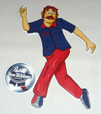 PBR Pabst Blue Ribbon Beer BOWLING 18x24 Metal Tacker Sign Bar Signage Artwork