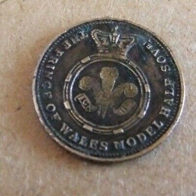 rare  1851  *  prince of  wales  model half sovereign *