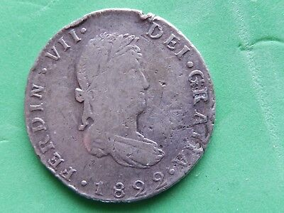 2 Reales Guanajuato 1822 JM / OVER jm RARE VARIETY,War of Independence, KM#93.3