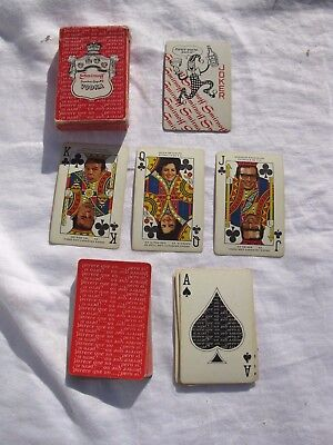1970s Used Deck SMIRNOFF VODKA PLAYING CARDS (SPANISH THEME) *SHIPS FREE 2 US!