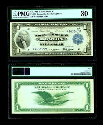 Fr. 708 $1 1918 Federal Reserve Bank Note PMG Very Fine 30