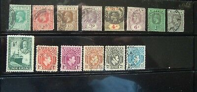 Nice Selection Of Some Very Old Stamps From Nigeria Mostly Used