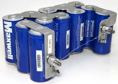 12x Maxwell BCAP3000 P270 Ultra Capacitors 3000 Farads 2.7V DC Welded Together
