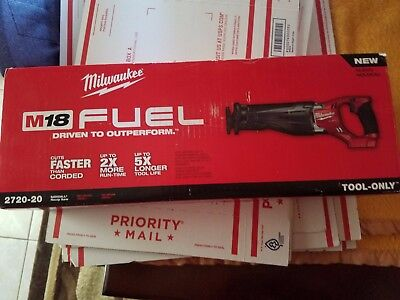 NEW Milwaukee M18 FUEL 2720-20 Sawzall Recip Saw 18V Li-Ion  TOOL ONLY