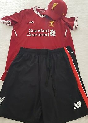 Liverpool fc Jersey shorts and cap