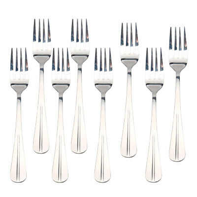 Restaurant Dinner Metal Tableware Flatware Serving Fork 7 Inches Long 8PCS