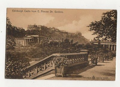 Edinburgh Castle From E Princes Street Gardens 1909 Postcard 066a