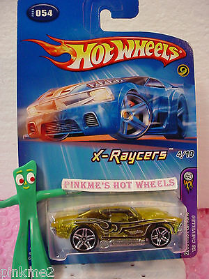 HW HOT WHEELS 05 FIRST EDITIONS X-RAYCERS #4 69 CHEVY CHEVELLE HOTWHEELS YELLOW