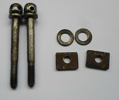 Lot 2 Antique French Bed Bolt Screws 3 3/8'' Long