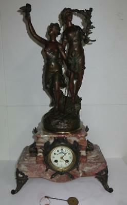 French mantel Clock 1900 25 inches par Rancoulet