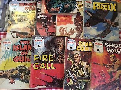 Lot of 9 BATTLE PICTURE LIBRARY COMICS 6p to 25p