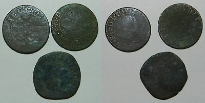 FRANCE :  3 OLD COINS - 17th Century