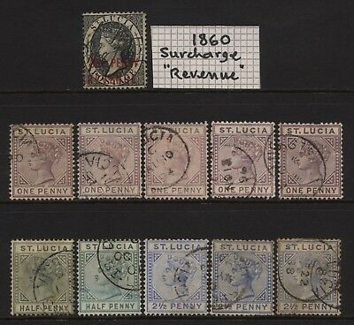 St Lucia Collection 11 QV Stamps Used